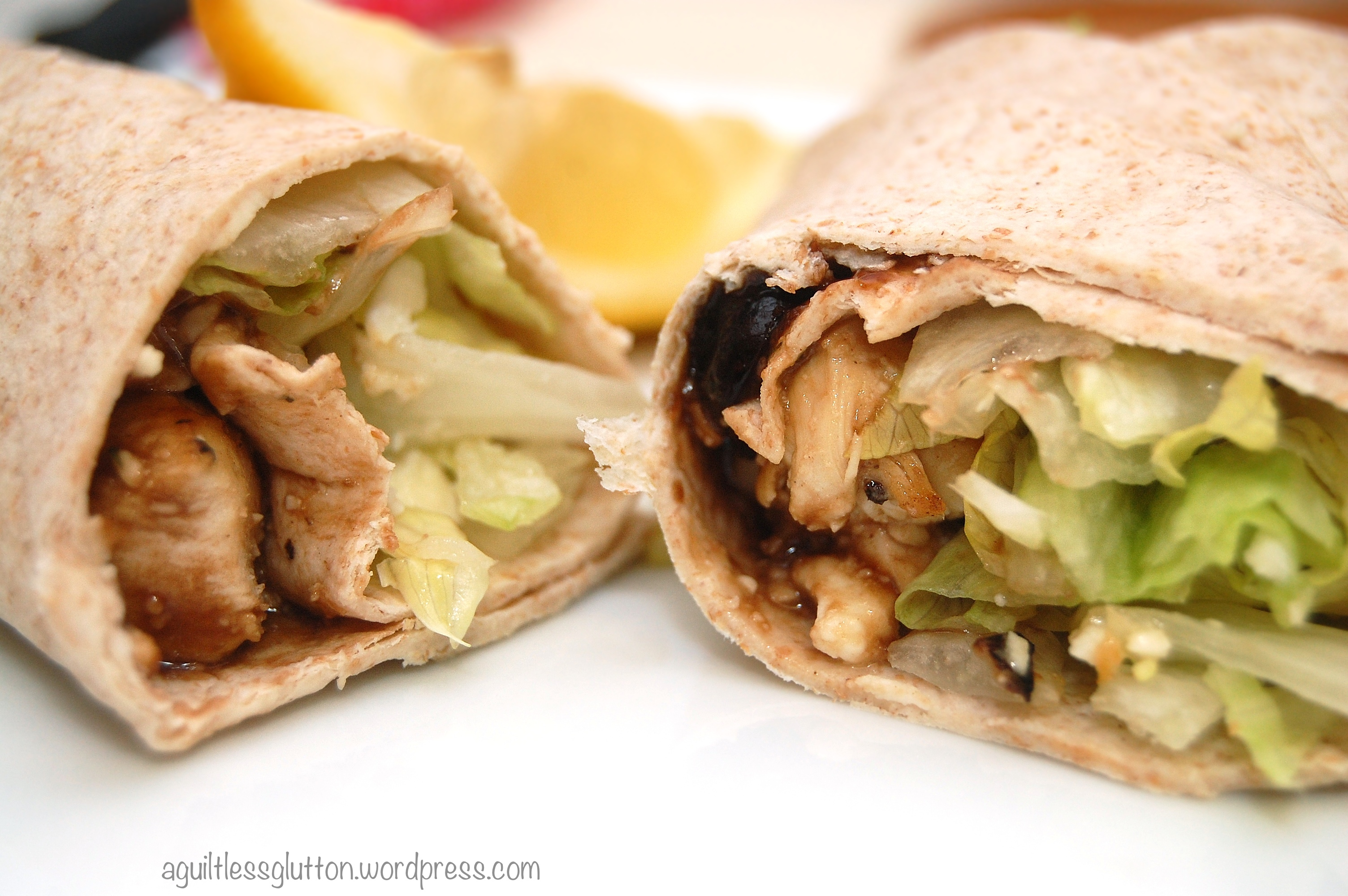 Guiltless Greek Chicken Wrap with Cranberry Vinaigrette ( click here ...