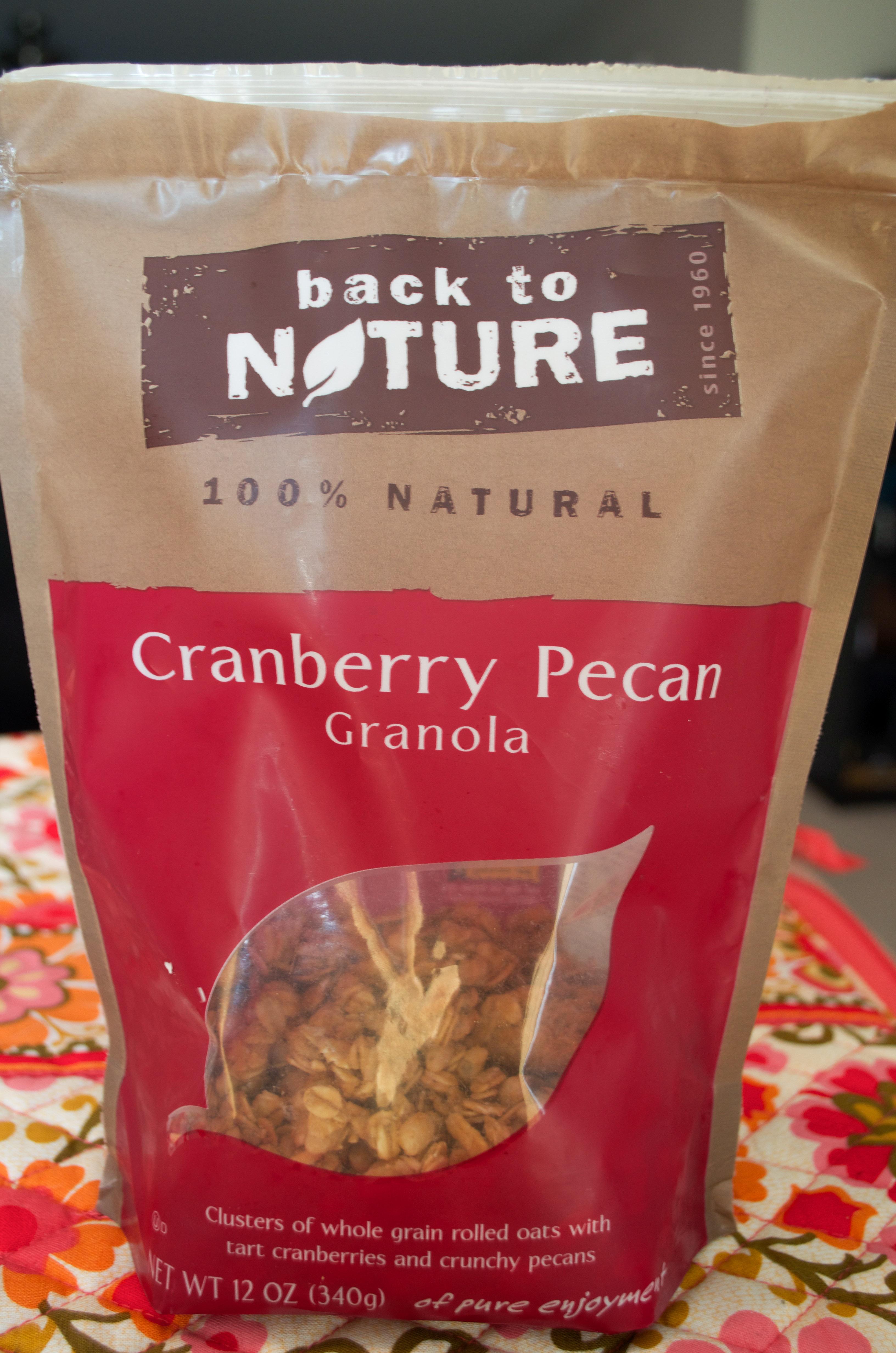 Back to Nature- Cranberry Pecan Granola